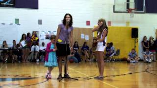 14-year-old Abby Miller performs