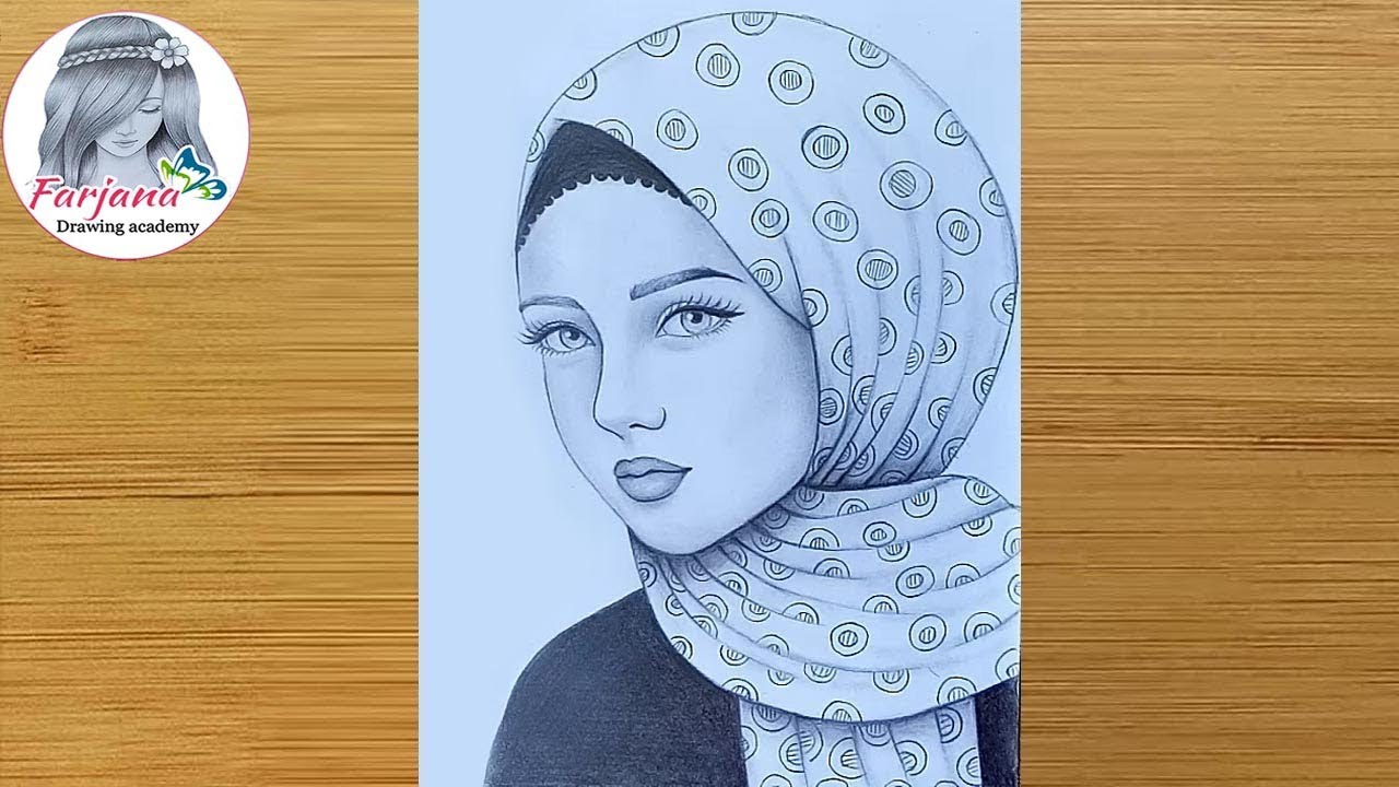 How To Draw A Girl With Hijab