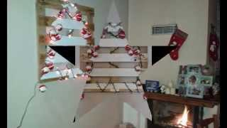 A Christmas Tree For Everyone,(made From Pallet).Χριστουγεννιατικο Δεντρο Απο Παλετα.