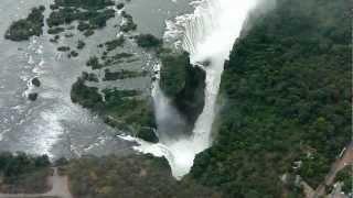 Scenic helicopter flight over Victoria Falls, Zimbabwe (Mosi-oa-Tunya)