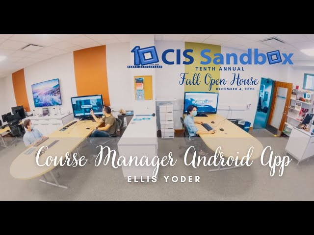 Course Manager Android App - 2020 CIS Sandbox Open House