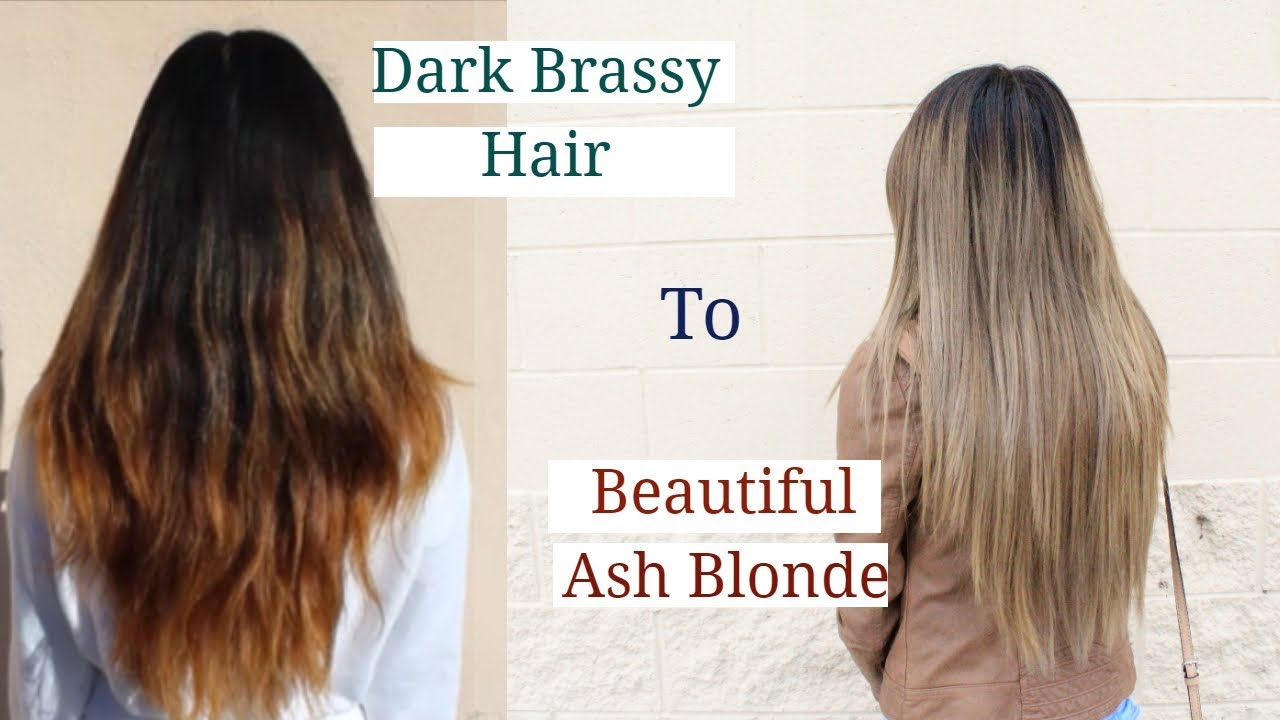 Dark to Ash Blonde Hair  Transformation