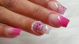 WATCH ME DO: OMBRE NAILS WITH GLITTERS | CAKESINC.NAILS