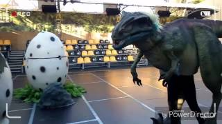 Мы на шоу живых динозавров. We live on the show dinosaurs.😊😊😊😊