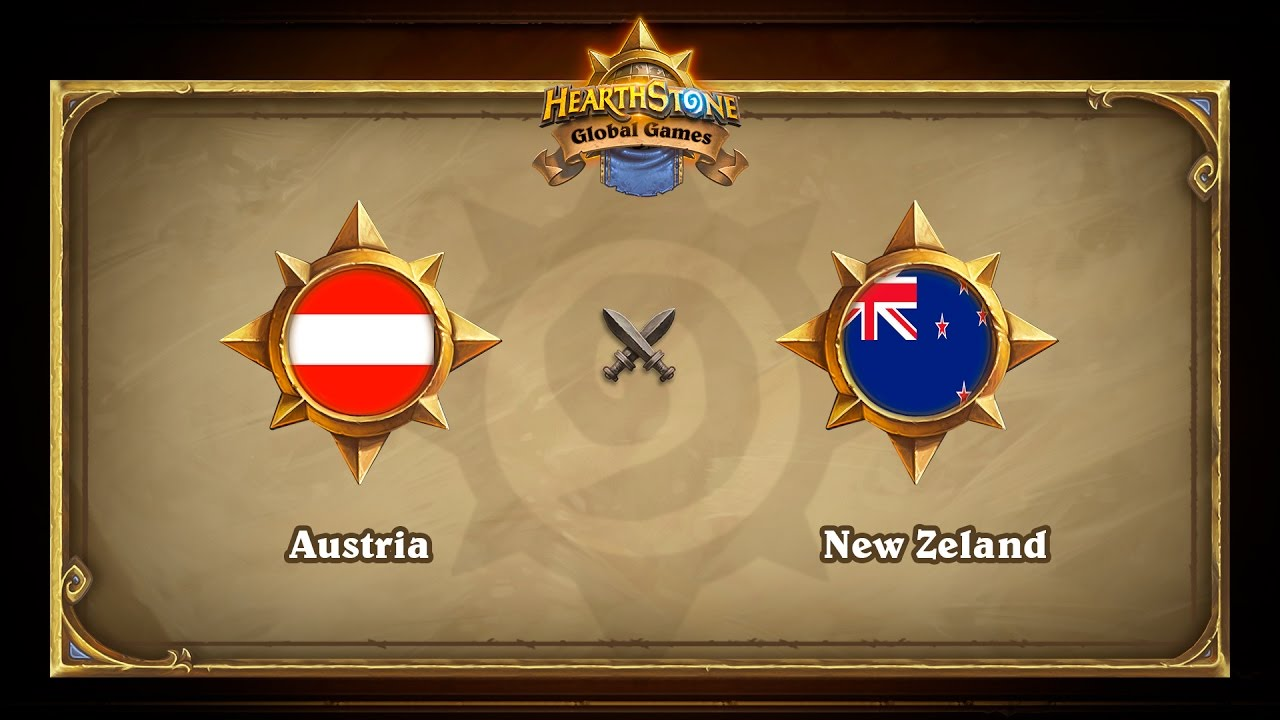 Austria vs New Zeland, Hearthstone Global Games Group Stage