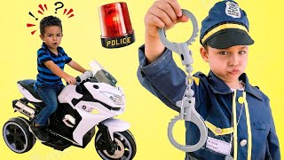 Pretend Play Police kids Adventure with Caletha Playtime