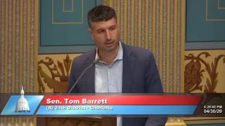 Sen. Barrett addresses the Michigan Senate on SB 858