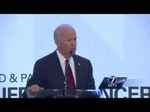 Joe Biden speaks at Buffett Cancer Center dedication
