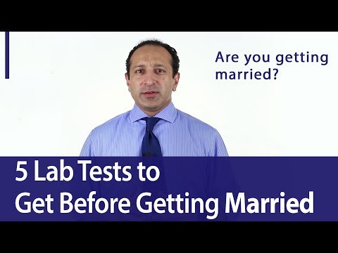 Lab Tests Before Getting Married
