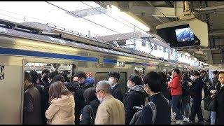 【混雑】京成津田沼駅と本線・千葉線の通勤ラッシュ