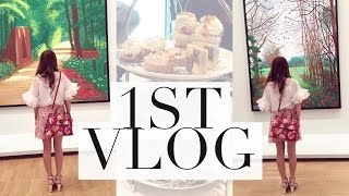 1ST VLOG - COME TO AN ART SHOW & HIGH TEA WITH ME! | Mel in Melbourne