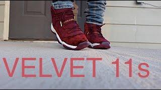 "Jordan 11 Heiress ""Red Velvet"" ON FOOT LOOK!"