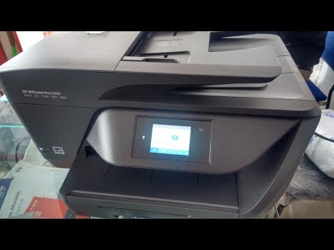 unboxing hp 6960 inkjet all in one color printer with wi fi youtube. Black Bedroom Furniture Sets. Home Design Ideas