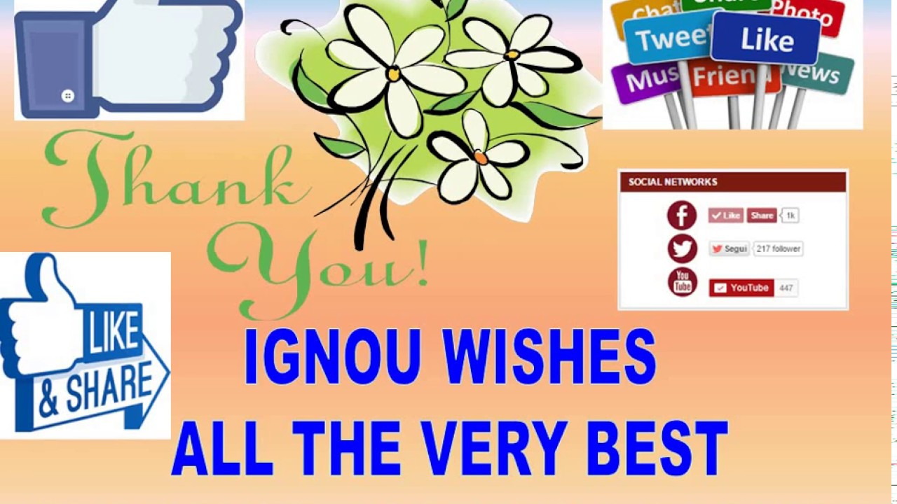 Meaning Of Some Ignou Words Youtube