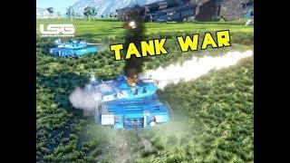 Tank Warfare Vs Players  - Space Engineers