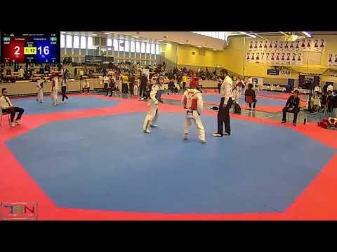 320  Frederik Emil Olsen, Soo Shim TKD Klubb vs  Ali Alladat, Champion taekwondo klubb Linkoping 24