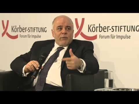 S.E. Dr. Haider Al-Abadi, Ministerpräsident der Republik Irak, hält Rede in Berlin