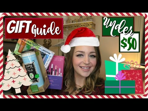 Holiday Gift Guide! BEST Beauty & Lifestyle Ideas for Her Under $50! Christmas 2016