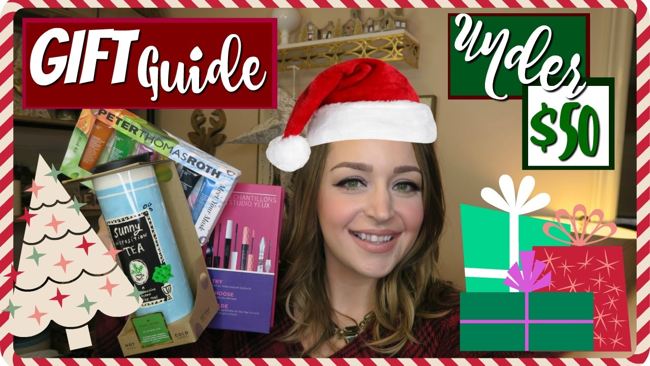 Christmas Gift Guide Stocking Stuffer Ideas Under 10 For Women Holiday 2016 Youtube