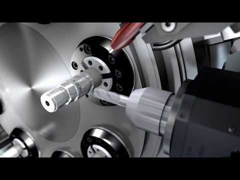 Animation of INDEX MS22C 8 - an 8-spindle CNC automatic lathe