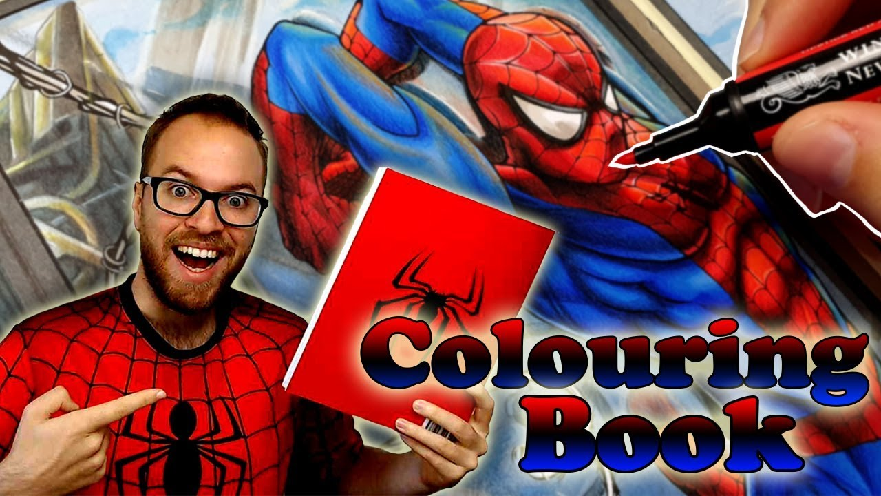 Professional Artist Colors a CHILDRENS Coloring Book..?   Spider-Man   7