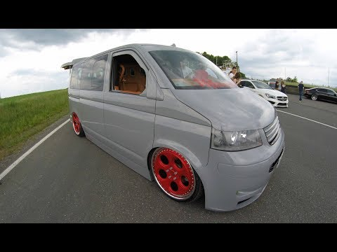 VW T5 MULTIVAN ! MEGA TUNING SHOW CAR ! ROTIFORM WHEELS ! LOWERED VAN ! WALKAROUND !