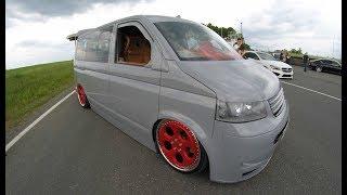VW T5 MULTIVAN ! MEGA TUNING SHOW CAR ! ROTIFORM WHEELS ! LOWERED VAN ! WALKAROUND !