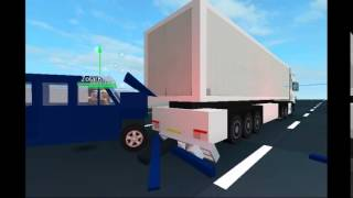 Roblox Transporter Van and Scania Truck Rear End Collision Crash Test