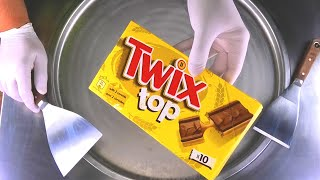 TWIX Ice Cream Rolls with Chocolate & Caramel - most satisfying Ice Cream | Cheat Day Meal - ASMR
