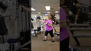 chest press cable alternating