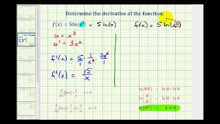 Ex 2:  Derivatives of the Natural Log Function with the Chain Rule