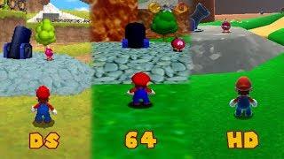 Super Mario 64 vs Super Mario 64 DS vs Super Mario 64 HD Comparison