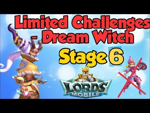 Lords Mobile | Dream Witch In New Limited Challenge, Stage 6 😎720p