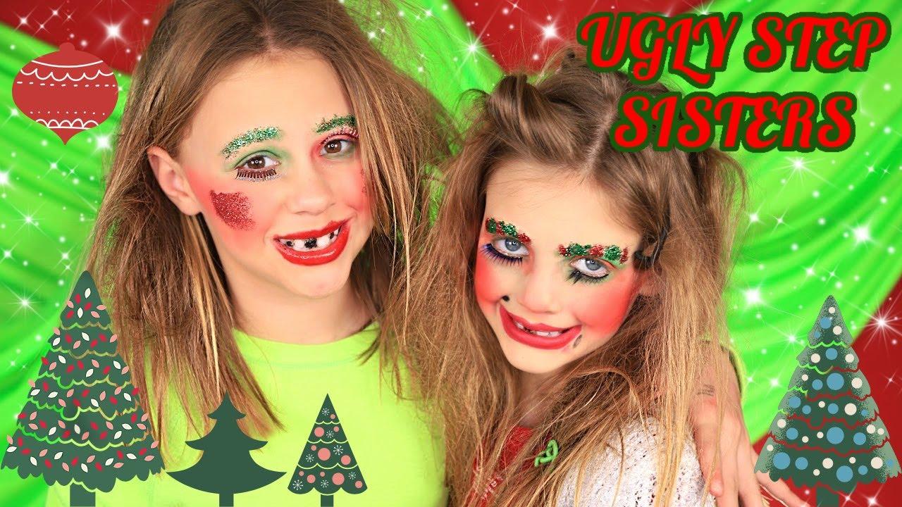 Cinderellas Ugly Step Sisters Christmas Makeup