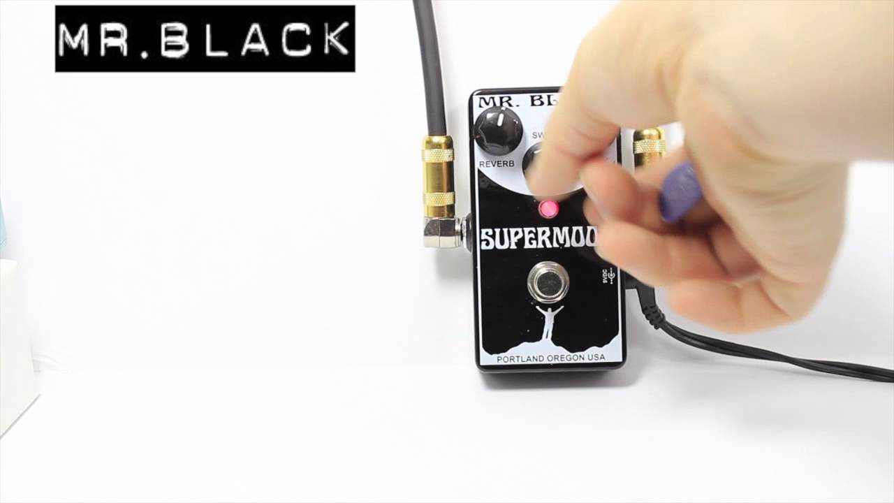 Mr Black Pedals Supermoon Modulated Reverb Demo By Lance Seymour