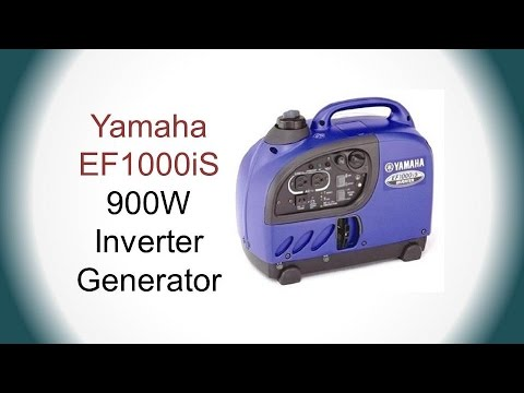Yamaha ef1000is portable inverter generator review youtube for Yamaha generator ef1000is