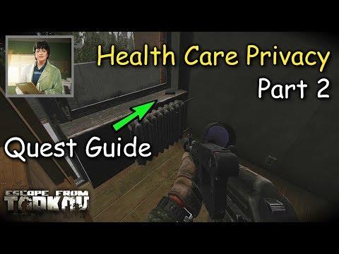 Health Care Privacy Part 2 Therapist Quest Guide Escape From Tarkov