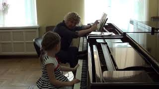 17.04.2019 Fourth lesson of Mira Marchenko with Ulyana Rodina, classroom of the Central Music School