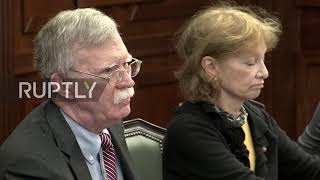 Russia: Trump Security Advisor Bolton holds meeting with Def Min Shoigu