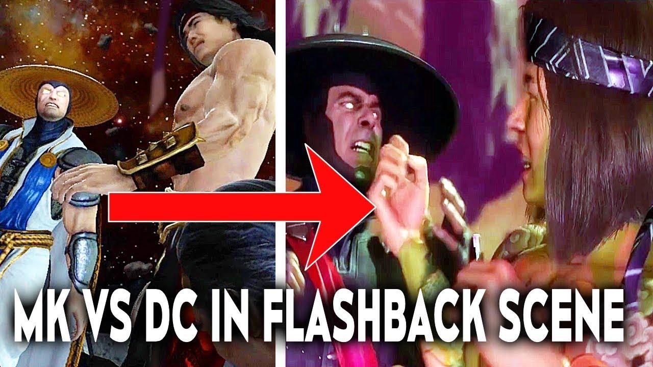 MORTAL KOMBAT 11 MK VS DC Raiden Vs Liu Kang In Flashback Story Scene Comparison