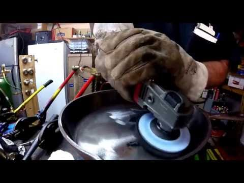 How How Revive Restore Bring Back A Rusty Rusted Cast Iron Pan or Pot Angle Grinder