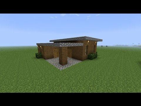 How to make a simple small wooden house [Minecraft] & How to make a simple small wooden house [Minecraft] - YouTube