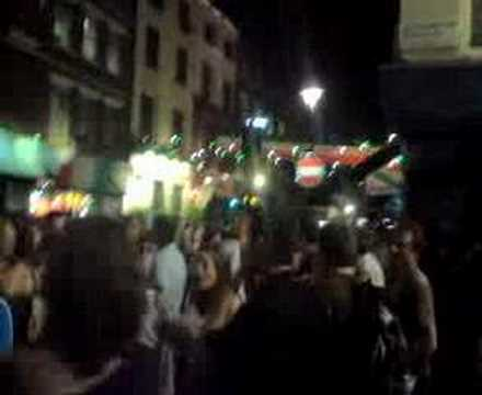 Italy fans party by Bar Italia, Soho, London