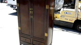 Chinese Rustic Lacquer Storage Armoire Cabinet S2697m