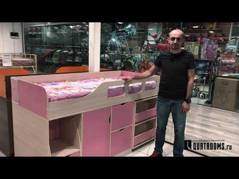 Детская кровать-чердак Астра 8 - видеообзор