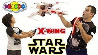 Star Wars X-Wing. Обзор Игрушки от Air Hogs. Звездный истребитель на радиоуправлении. Кикидо