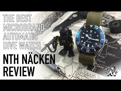 Classic Military Watch Inspired Perfection & The Best Microbrand Automatic Diver - NTH Näcken Review