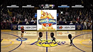 NBA JAM ON FIRE EDITION MIAMI HEAT VS LA LAKERS XBOX ONE X GAMEPLAY!!!!
