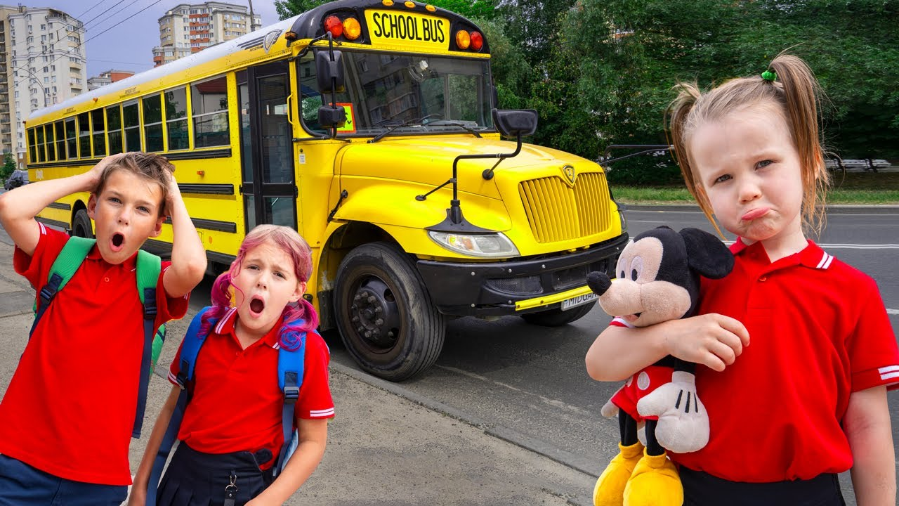 Five Kids First Day of School + more Children's Songs and Videos