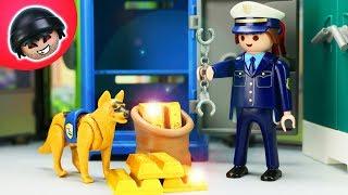 Polizeihund raubt die Bank aus! Playmobil Polizei Film - KARLCHEN KNACK #209